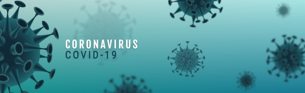 Corona Virus banner illustration - Microbiology And Virology Concept -