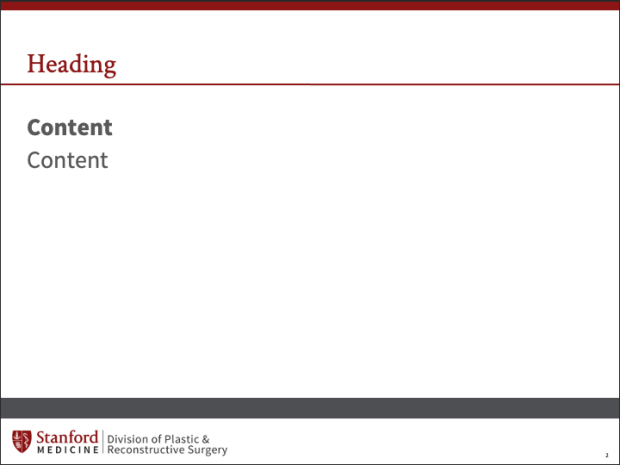 Stanford Plastic Surgery Slides