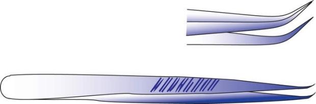 angled jewlers forceps